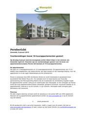 20190109 Persbericht Woonpalet Voorbereidingen bouw huurappartementen gestart