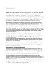 Persbericht Patrimonium Barendrecht draagt aanhanger over aan Stichting Present