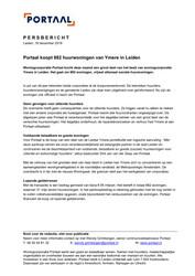 Persbericht 191218 Portaal koopt 882 sociale huurwoningen van Ymere in Leiden