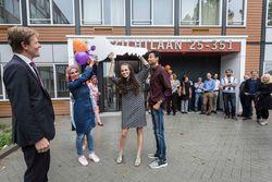 Praktijkvoorbeeld Delftplein overhandiging sleutels oktober 2017