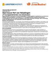 Persbericht Start bouw Hof van Helsdingen