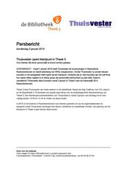 Persbericht Thuisvester over opening klantpunt Raamsdonksveer, 3 januari 2019