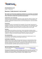 Persbericht Portaal over instemming bewoners 't Duifje met renovatie, 11 januari 2019