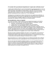 Verslag gezamenlijk event jongerenorganisaties thema integriteit, Jong Aedes, 27 november 2018