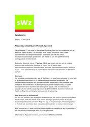 Persbericht_SWZ Zwolle feestelijke_oplevering_Bachlaan, mei 2018