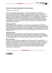 Persbericht Vallei Wonen bedankt trouwe huurders en vrijwilligers - Dag van het Huren