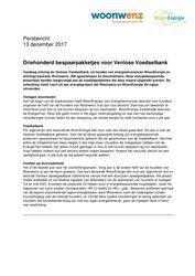 Persbericht 2017.12.14 WoonEnergie en Woonwenz schenken bespaarpakketjes
