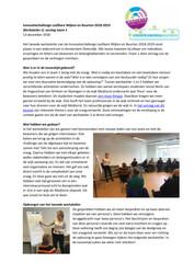 Verslag Werkatelier 2 Innovatiechallenge leefbare wijken en buurten 2018 2019 Team 1 - december 2018