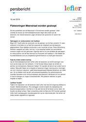2018.05.17 Persbericht Flatwoningen Meerstraat worden gesloopt