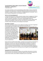 Verslag Werkatelier 2 Innovatiechallenge leefbare wijken en buurten 2018 2019 Team 2 - december 2018