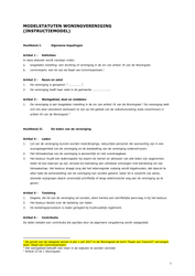 Modelstatuten woningvereniging (instructiemodel), Aedes en VTW, oktober 2017