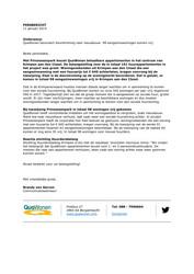 Persbericht QuaWonen over bevordering doorstroming naar nieuwbouw, 11 januari 2019