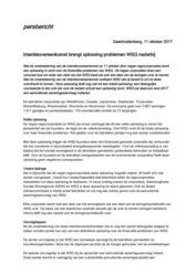 Persbericht Intentieovereenkomst brengt oplossing problemen WSG naderbij
