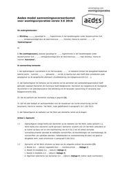 Model aannemingsovereenkomst voor woningcorporaties, Aedes, 2016