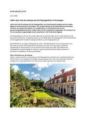 Persbericht over start verkoop Pepergasthuis, mei 2018
