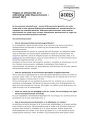 Vragen en antwoorden over uitbreiding taken huurcommissie, Aedes-Huurcommissie 18 januari 2019