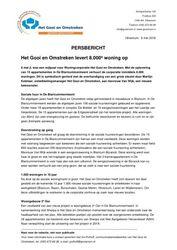 PERSBERICHT Gooi en Omstreken over oplevering 8000ste woning, mei 2018