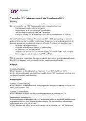 Voorstellen CNV Vakmensen voor CAO Woondiensten 2019 20181912