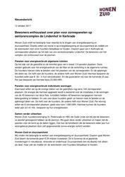 Persbericht Zonnepanelen op Lindenhof Kerkrade
