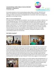Verslag Werkatelier 2 Innovatiechallenge leefbare wijken en buurten 2018 2019 Team 3 - december 2018