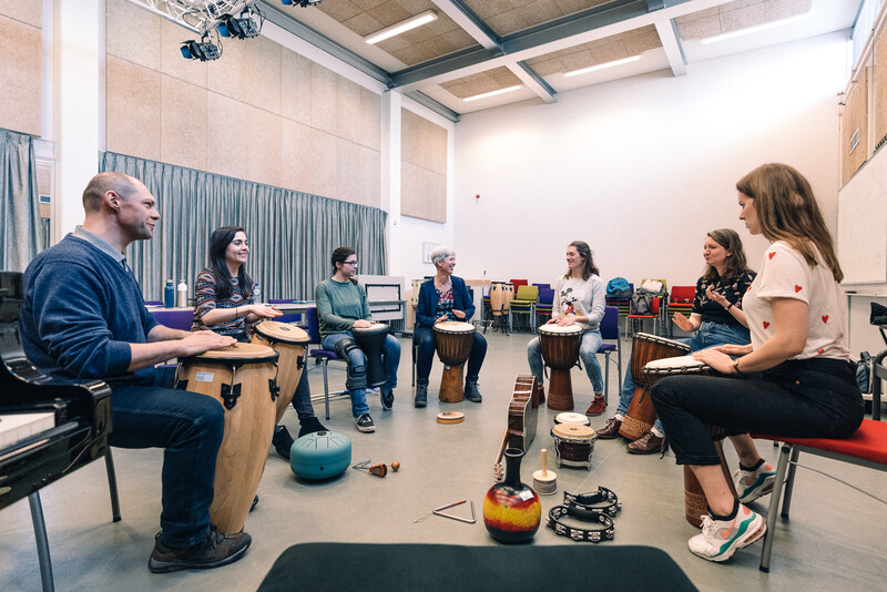 Master of Music Therapy (MMT) studenten groep