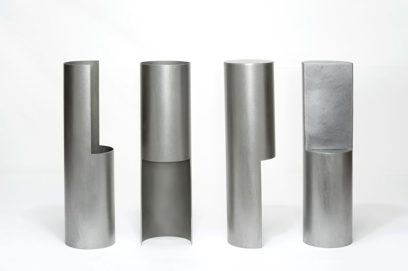 Juliette Bigley, Group of Four, Steels, 320x88 each, 2018, photo Nicola Tree, high res 1