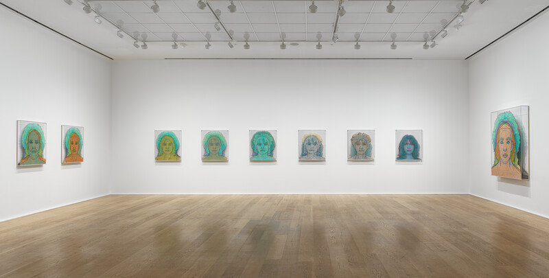 1.Installation view. 'Charles Gaines. Multiples of Nature, Trees and Faces', Hauser & Wirth London 2021