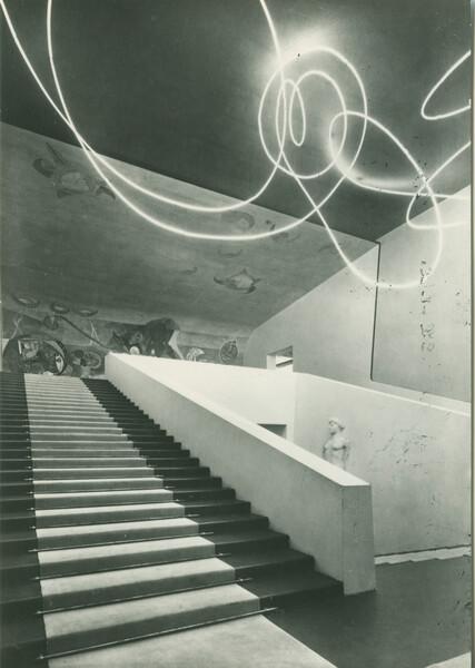 Struttura al neon per la IX  Triennale di Milano, 1951_2