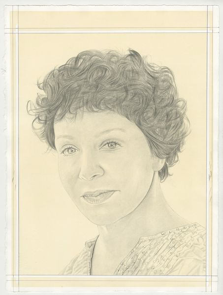 Portrait of Diana Thater, pencil on paper by Phong Bui