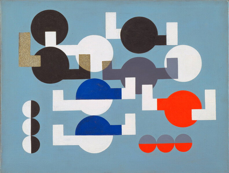 Taeuber-Arp-Composition-of-Circles-and-Overlapping-Angles