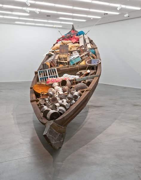 Artwork related to exhibition: Subodh Gupta What does the vessel contain, that the river does not