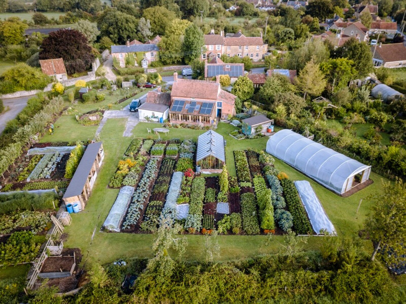 Homeacres September 2019, Charles Dowding's no dig garden, 1000 square metres of cropped ground