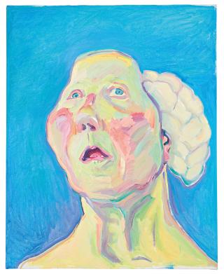 maria lassnig vrouw met brein uitsnede
