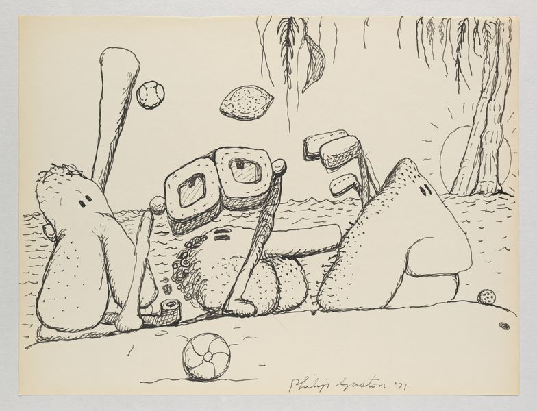 Artwork related to exhibition: Philip Guston Laughter in the Dark, Drawings from 1971 & 1975