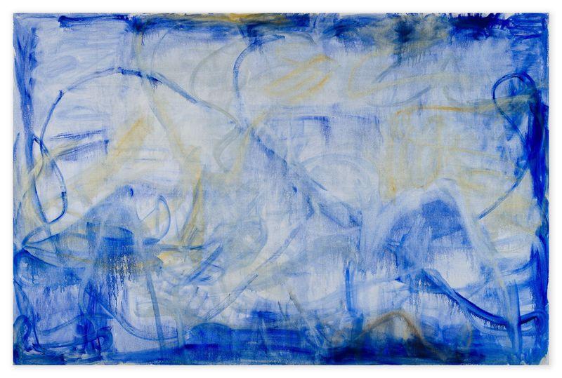 ZHANG76704 Irregular Blue Lines