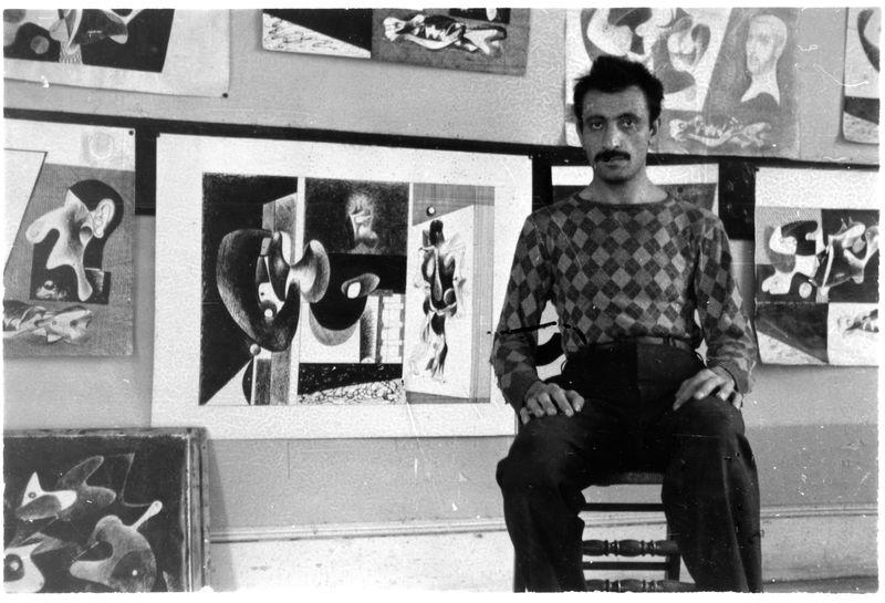G in his studio, 1 (Sandow)