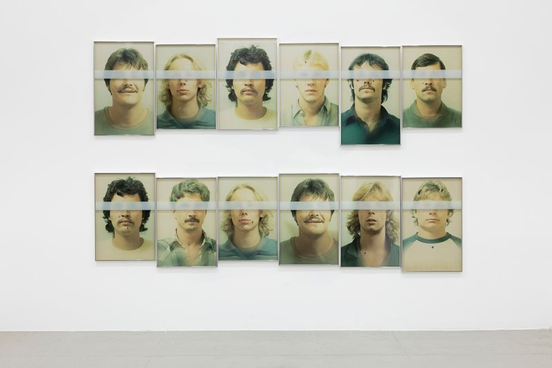 Portraits of young offenders used as targets during the training of police officers in the city of M., United States