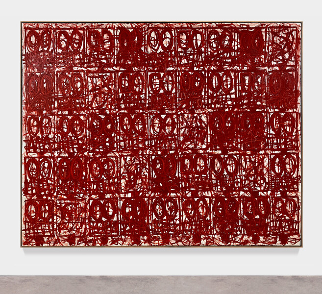 JOHNR106494 Anxious Red Painting August 13th