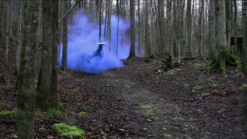 Roman Signer Blauer Rauch_2016