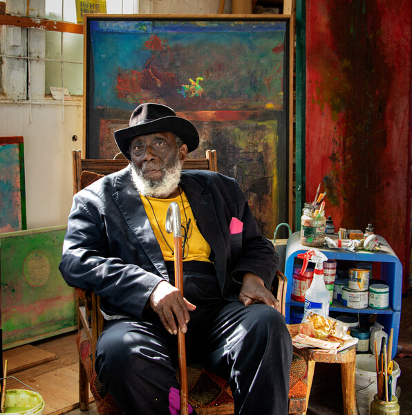 Sir Frank Bowling - Portrait