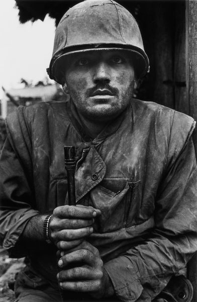 A shell-shocked U.S. Marine, Hue