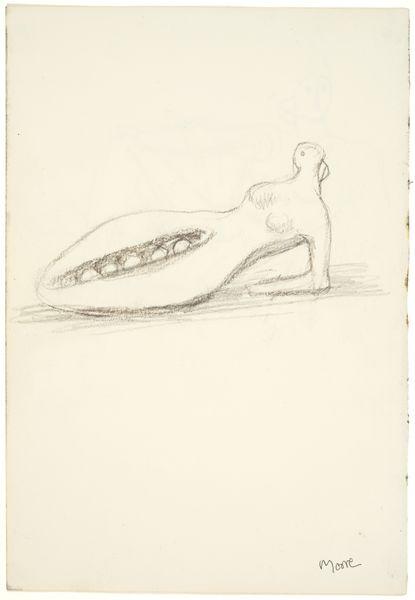 MOORE39692 Recto: Reclining Figure Verso: Reclining Figure: Pea Pod