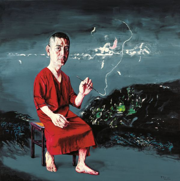 Zeng Fanzhi, Self-portrait 09-8-1,200x200cm