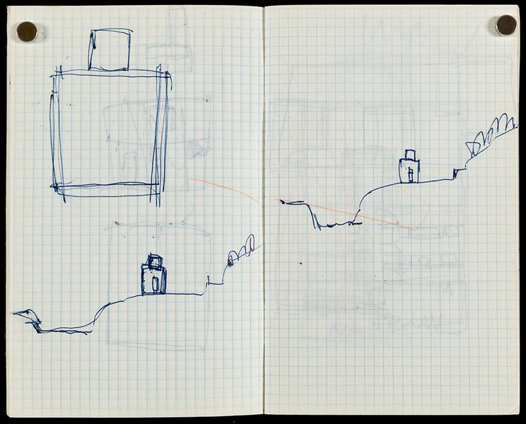 Page from Peter Mí_rkli sketchbook