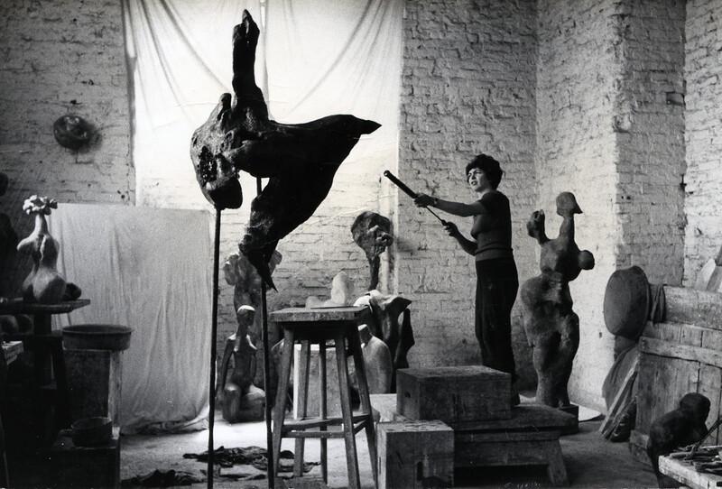 Alina Szapocznikow in her Królewska Street studio, Warsaw, Poland