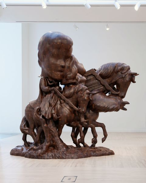 Artwork related to exhibition: Paul McCarthy WS Spinoffs Wood Statues Brown Rothkos