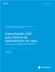 XProtect Expert Open CSI A&E Specification Sheet