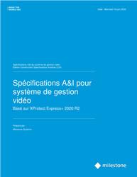 XProtect Express+ Open CSI A&E Specification Sheet