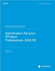XProtect Professional+ CSI A&E Specification Sheet