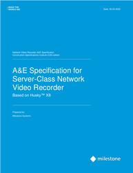 Server-Class NVR CSI A&E Specification Sheet  (Husky X8)